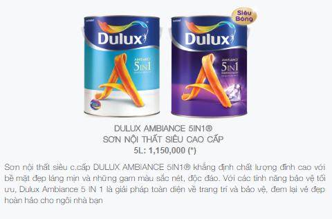 giá sơn dulux 5 in 1